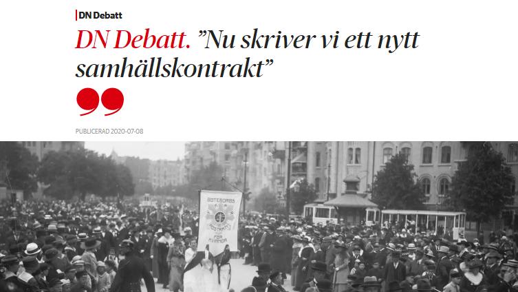 DN Debatt skärmdump